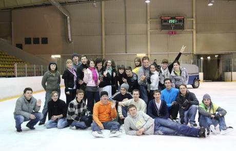 Сотрудники Фабрики информационных технологий на хоккее