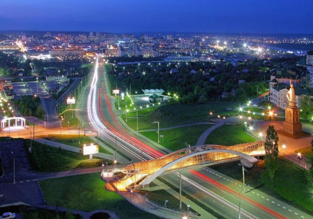Город Белгород, Харьковская гора – вид сверху